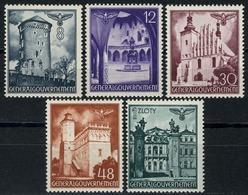 66-70 Freimarken Bauwerke 1941, Satz Komplett ** Postfrisch - Besetzungen 1938-45