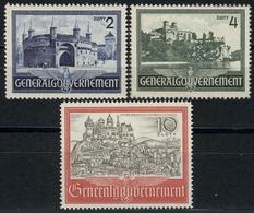 63-65 Bauwerke 1941, Satz Komplett ** Postfrisch - Besetzungen 1938-45