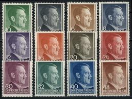 71-82 Freimarken Hitler 1941, Satz Komplett ** Postfrisch - Besetzungen 1938-45