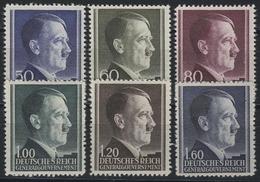 83-88A Hitler 1941, 6 Werte, WEIT Gezähnt, Satz Kpl. ** Postfrisch - Besetzungen 1938-45
