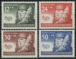 59-62 Winterhilfe 1940, Satz Komplett ** Postfrisch - Besetzungen 1938-45