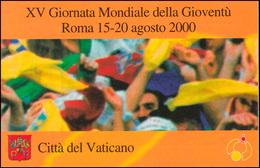 Vatikan-Markenheftchen 0-8 Tag Der Jugend Rom 2000, Selbstklebend, ** - Markenheftchen