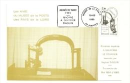 LOIRE ATLANTIQUE - Dépt N° 44 = NANTES 1985 = Flamme CONCORDANTE N° 2362 = DAGUIN 'JOURNEE Du TIMBRE ' - Marcophilie (Lettres)