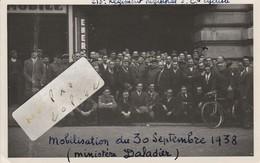 213ème Régiment Régional - 5ème Cie Cycliste - Mobilisation Du 30/09/1938 - Ministère Daladier  ( Photo Format Cpa  ) - War, Military