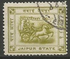 Jaipur- 1906 Chariot Of Surya 1/4a Used    Sc 4 - Jaipur