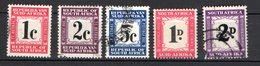 Afrique Du Sud Scott 5 Timbres Taxe...oblitérés - Afrique Du Sud (1961-...)