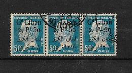 Libano 1924-25 Bloque De 3 Sellos De Francia De 1923-24 - Líbano