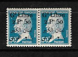 Libano 1924-25 Pareja De Sellos Nuevos Sin Charnela Perfecto Estado Sellos De Francia De 1923-24 - Líbano