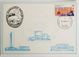 1985 Vereinte Nationen, Sonnenzug Phila '85, UN, Wien, Vienna, Donaupark - Briefe U. Dokumente