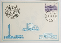 1985 Vereinte Nationen, Braunschweig, UN, Wien, Vienna, Donaupark - Briefe U. Dokumente