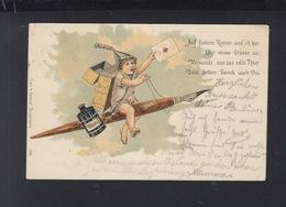 Dt. Reich PK 1900 Werbung Pelikan Tinte - Werbepostkarten