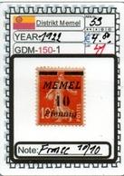 EUROPE-#GERMANY EMPIRE#MEMEL#KLAIPEDA (GDM-150-1 (41) - Klaipeda