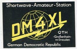 QSL Card - AK 346696 German Democratic Republic - Großenhain Nr. Dresden - Radio Amateur