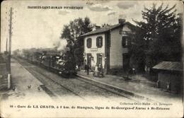 Cp La Chaud Haute Loire, La Gare, Chemin De Fer - France