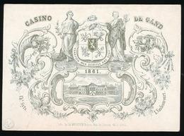GENT PORSELEINKAART  17.5 X 12 CM - CASINO DE GAND  1861 - Gent