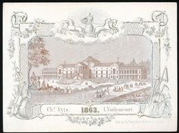 GENT PORSELEINKAART  17.5 X 12 CM - CASINO DE GAND  1863 - Gent