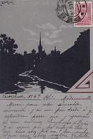 RUSSIE. LUSKINA. CPA.. PAYSAGE DE NUIT.  AFFRANCHIE ANNÉE 1911. A DESTINATION DE LEZAY (79) - Russie