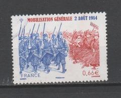 FRANCE / 2014 / Y&T N° 4889 : Mobilisation Générale - Choisi - Cachet Rond - France