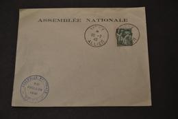 Lettre 1940 10/07/1940 Lettre De L'assemblée Nationale Vote Pour Les Pleins Pouvoir A PETAIN - Marcophilie (Lettres)