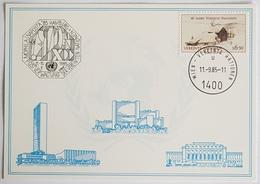 1985 Vereinte Nationen, Naposta '85, Hamburg, UN, Wien, Vienna, Donaupark - Briefe U. Dokumente