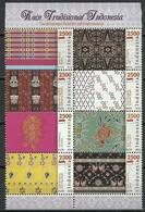 Indonesia 2012 Mi 2982-2989 MNH ( ZS8 INSach2982-2989dav136 ) - Textile