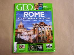 GEO Magazine N° 445 Géographie Voyage Monde Italie Rome Inde Holi Indonésie Asie Ours Kamchatka Sénégal Amour Tabou - Tourisme & Régions