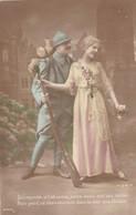 """CARTE PATRIOTIQUE CPA. ."""" QU'IMPORTE SI L'ABSENCE ENTRE NOUS MET SES VOILES....."""". TEXTE ANNEE 1916 - Patriottiche"""