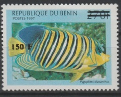 Bénin 2000 Mi. 1297 Poisson Fisch Fish Marine Life Fauna Faune Surchargé Overprint MNH** - Bénin – Dahomey (1960-...)
