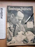 WWII WW2 1944 HAMBURGER Illustrierte Zeitung HAMBURG GERMANY MAGAZINE NEWSPAPERS NEWS DEUTSCHLAND MG34 TANK PANTHER WK2 - 1939-45