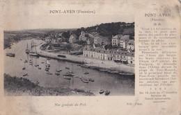 Carte 1910 PONT AVEN / VUE GENERALE DU PORT (service De Canot Automobile) - Pont Aven