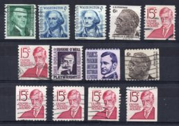 U.S.A - 1966/81 - Coil & Booklet Stamps - Used - Etats-Unis