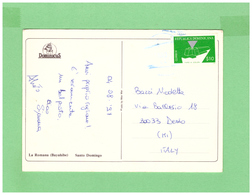 1997 REPUBLICA DOMINICANA AIR MAIL POSTCARD WITH 1 STAMP TO ITALY - Dominica (1978-...)