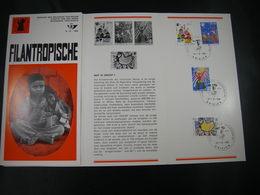 "BELG.1969 1492-1495 FDC Folder NL (Brielen) : "" Filantropische "" - 1961-70"