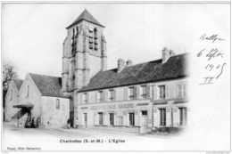 CHARTRETTES L'EGLISE 1905 TBE - Autres Communes