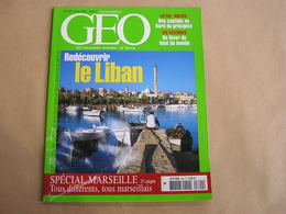 GEO Magazine N° 300 Géographie Voyage Monde Liban Amérique Du Sud La Paz Bolivie Cévennes Spécial Marseille France - Tourisme & Régions