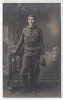 Austro-Hungarian Soldier Old Photo(postcard) Travelled 1918 K. U. K. Feldpost FP 468 To Kamnik B190310 - Oorlog 1914-18