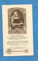 RELIQUE RELIC IMAGE PIEUSE HOLY CARD Poussepin Marie  DOURDAN SAINVILLE TOURS SOEURS DE LA CHARITE DOMINICAINE - Images Religieuses