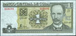 CUBA - 1 Peso 2003 {José Marti} UNC P.121 C - Cuba