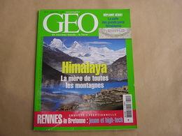 GEO Magazine N° 311 Géographie Voyage Monde Himalaya Népal Montagne Rennes Bretagne Norvège Amérique Centrale Birmanie - Tourisme & Régions