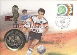 Isle Of Man Numisbrief Fußball-WM 1990 - Regionale Währungen