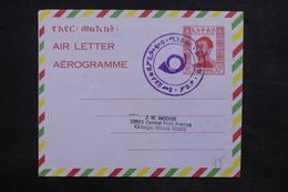 ETHIOPIE - Aérogramme Pour Chicago En 1964 - L 24728 - Ethiopie