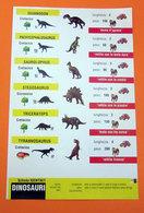 SCHEDA CLEMENTONI DINOSAURI  DINOSAURS - Animali
