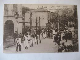 Cpa Corse - Miomo - La Procession Se Rendant à La Vasina , Célèbre Pélerinage Du 8 Septembre , Animée . - Other Municipalities