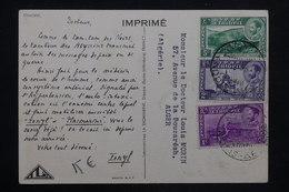 ETHIOPIE - Carte Médicale ( Biomarine De Dieppe) Pour Alger - L 24735 - Ethiopie