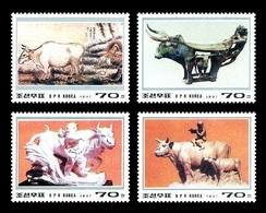 North Korea 1997 Mih. 3890/93 Lunar New Year. Year Of The Ox. Bulls In Art MNH ** - Korea (Nord-)