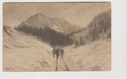 Cartolina Illustrata BERTIGLIA, Paesaggio Montano  - F.p.  - Anni  '1910 - Bertiglia, A.