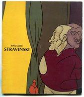Programme Spectacle STRAVINSKI Opéra De Paris 15 Avril 1987 - Programmes