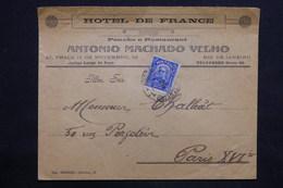 BRÉSIL - Enveloppe De L 'hôtel De France De Rio De Janeiro Pour Paris - L 24742 - Cartas