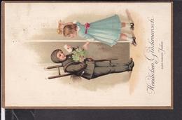 Postkarte  Neujahr , Kaminfeger , Feldpost 1914 - New Year