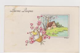 Cartolina Illustrata Da BARNINI , Buona Pasqua  - F.p.  - Anni  '1940 - Illustratori & Fotografie